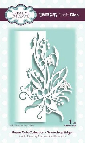 Creative Expressions - Paper Cuts Collection Snowdrop Edger, Stanssi