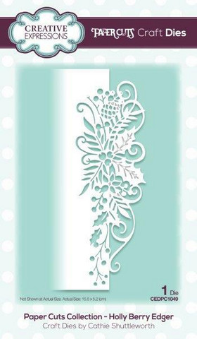 Creative Expressions - Paper Cuts Collection Holly Berry Edger Craft Die, Stanssi