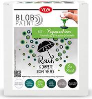 Viva Decor - Blob Paint, Tiplumaalisetti, Umbrella, 6x90ml