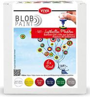 Viva Decor - Blob Paint, Tiplumaalisetti, Balloon Girl, 6x90ml
