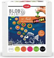 Viva Decor - Blob Paint, Tiplumaalisetti, Fish, 6x90ml