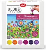 Viva Decor - Blob Paint, Tiplumaalisetti, Flower Meadow, 6x90ml