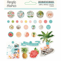 Simple Stories - Simple Vintage Coastal, Decorative Brads, 30 kpl