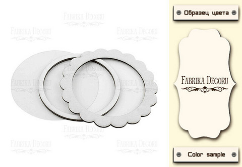Fabrika Decoru - Shaker Dimension Set, Circle With Lace