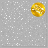Fabrika Decoru - White Drops, White Foiled Vellum, 11,5