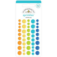 Doodlebug - Birthday Boy, Sprinkles Adhesive Matte Enamel Dots, 45 osaa