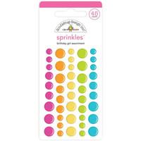 Doodlebug - Birthday Girl, Sprinkles Adhesive Matte Enamel Dots, 45 osaa
