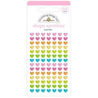 Doodlebug - Heart-Fetti, Sprinkles Adhesive Enamel Shapes, 98 osaa