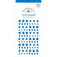 Doodlebug - Adhesive Mini Jewels, 84 osaa, Blue Jean