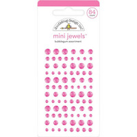 Doodlebug - Adhesive Mini Jewels, 84 osaa, Bubblegum