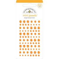 Doodlebug - Adhesive Mini Jewels, 84 osaa, Tangerine