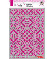 Pronty Crafts - Pattern Barok 4, A5, Sapluuna