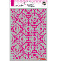 Pronty Crafts - Pattern Oval, A5, Sapluuna
