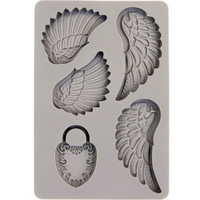 Prima Marketing - Decor Mould,  Wing & Locket, Silikonimuotti