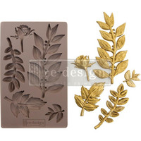 Prima Marketing - Decor Mould, Leafy Blossoms, Silikonimuotti
