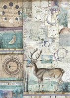 Stamperia - Rice Paper, A4, Cosmos Deer