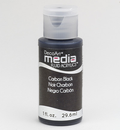 DecoArt - Fluid Acrylics, Carbon Black, 29ml