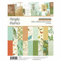 Simple Stories - Simple Vintage Great Escape, Paperikko 6''x8'', 24sivua