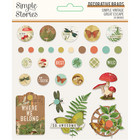 Simple Stories - Simple Vintage Great Escape, Decorative Brads, 30 kpl