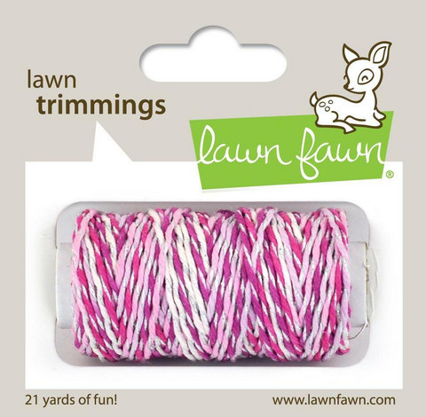 Lawn Fawn - Lawn Trimmings, Pretty In Pink Sparkle