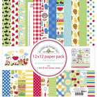 Doodlebug - Bar-B-Cute, Double-Sided Paper Pack 12