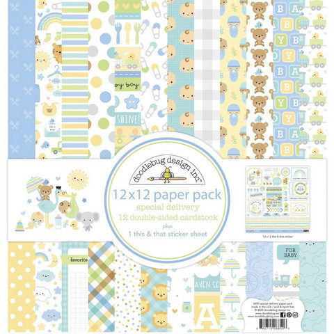 Doodlebug - Special Delivery,  Double-Sided Paper Pack 12