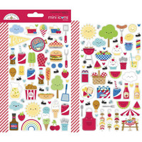 Doodlebug - Bar-B-Cute Icons, Mini Cardstock Stickers, 2 arkkia