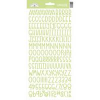 Doodlebug - Sunshine, Cardstock Alpha Stickers, Limeade