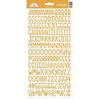Doodlebug - Sunshine, Cardstock Alpha Stickers, Tangerine