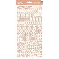 Doodlebug - Sunshine, Cardstock Alpha Stickers, Coral