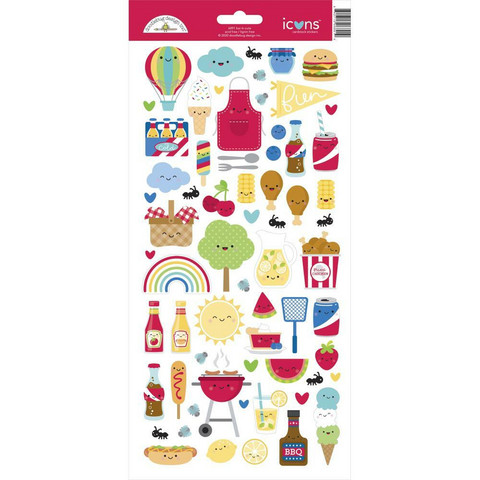 Doodlebug - Cardstock Stickers, Bar-B-Cute Icons