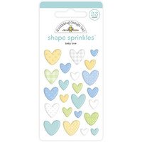 Doodlebug - Special Delivery, Sprinkles Adhesive Enamel Shapes, Baby Love, 23 osaa