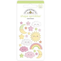 Doodlebug - Bundle Of Joy, Sprinkles Adhesive Enamel Shapes, Sweet Dreams, 22 osaa