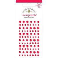 Doodlebug - Adhesive Mini Jewels, 84 osaa, Ladybug