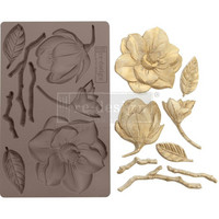 Prima Marketing - Decor Mould, Winter Blooms, Silikonimuotti