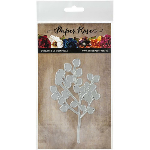 Paper Rose - Baby Blue Large Eucalyptus Branch, Stanssi