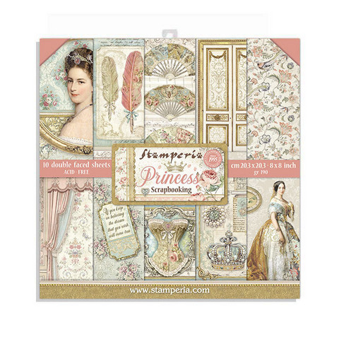 Stamperia - Princess, Paper Pack 8