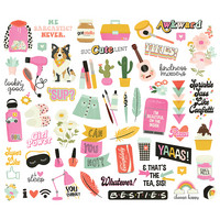 Simple Stories - Kate & Ash Bits & Pieces Die-Cuts, 57 osaa
