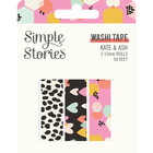 Simple Stories - Kate and Ash, Washi Tape, 3 rullaa
