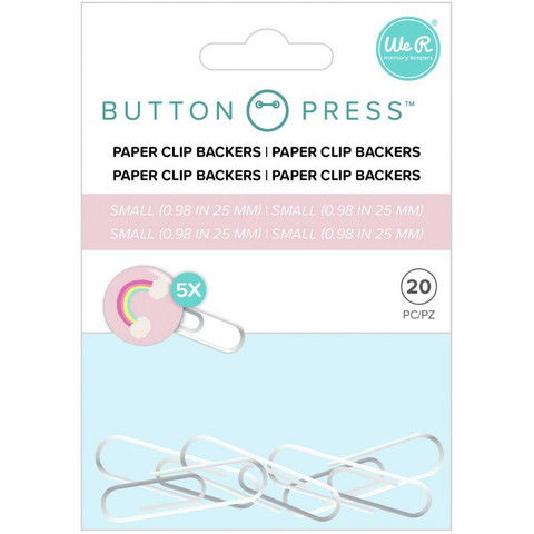 We R - Button Press Paper Clip Backers