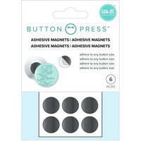 We R - Button Press Adhesive Magnets, 6 kpl