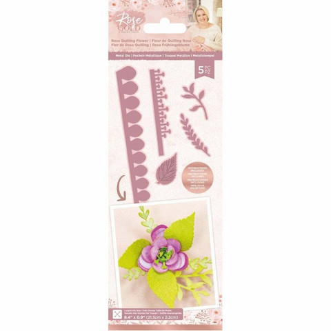Crafter`s Companion - Sara Signature Collection Rose Gold, Stanssisetti, Rose Quilling Flower