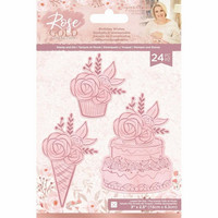 Crafter`s Companion - Sara Signature Collection Rose Gold, Leima- ja Stanssisetti, Birthday Wishes