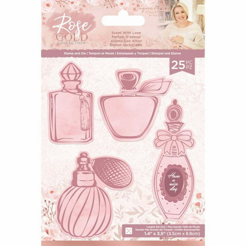 Crafter`s Companion - Sara Signature Collection Rose Gold, Leima- ja Stanssisetti, Scent with Love