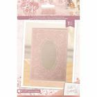 Crafter`s Companion - Sara Signature Collection Rose Gold, Kohokuviointitasku&Stanssi, Decorative Rose Frame