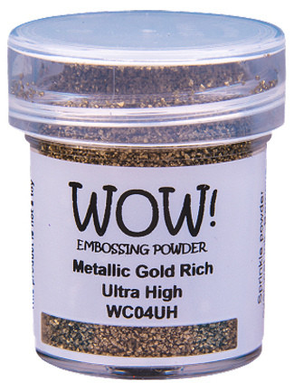 WOW!-kohojauhe, Metallic Gold Rich (O), Ultra High, 15ml