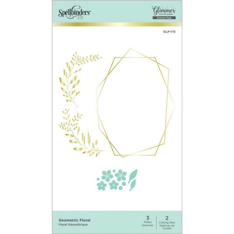 Spellbinders - Glimmer Hot Foil Plate, Geometric Floral Layered