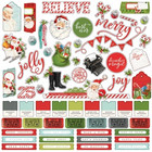Simple Stories - Simple Vintage North Pole Cardstock Stickers 12