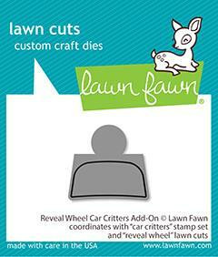Lawn Fawn - Reveal Wheel Car Critters Add-on, Stanssisetti