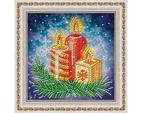 ArtMosfa - New Year Candles (K)(N), Timanttimaalaus, 15x15cm